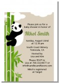 Panda - Baby Shower Petite Invitations