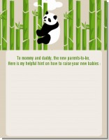 Panda - Baby Shower Notes of Advice