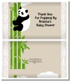 Panda - Personalized Popcorn Wrapper Baby Shower Favors