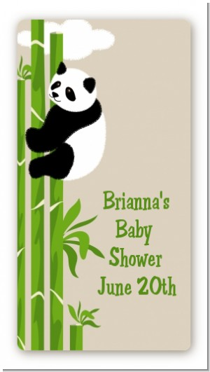 Panda - Custom Rectangle Baby Shower Sticker/Labels