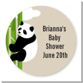 Panda - Round Personalized Baby Shower Sticker Labels