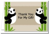 Twin Pandas - Baby Shower Thank You Cards