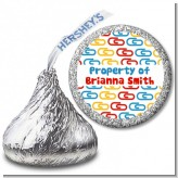 Paper Clips - Hershey Kiss School Sticker Labels