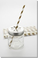 Gold Stripe - Baby Shower Decorative Paper Straws
