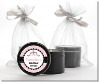 Paris BeBe - Baby Shower Black Candle Tin Favors