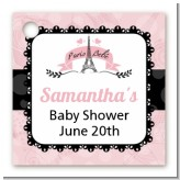 Paris BeBe - Personalized Baby Shower Card Stock Favor Tags
