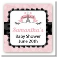 Paris Bebe - Square Personalized Baby Shower Sticker Labels thumbnail