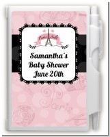 Paris BeBe - Baby Shower Personalized Notebook Favor