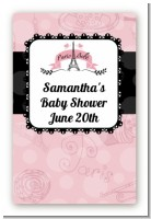 Paris BeBe - Custom Large Rectangle Baby Shower Sticker/Labels
