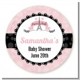 Paris BeBe - Round Personalized Baby Shower Sticker Labels thumbnail