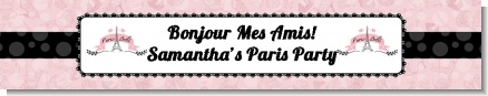 Paris BeBe - Personalized Baby Shower Banners