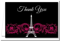 Paris - Bridal Shower Thank You Cards