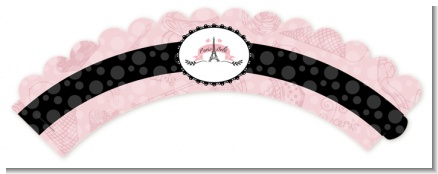 Paris BeBe - Baby Shower Cupcake Wrappers