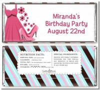 Party Dress | Sweet 16 - Personalized Birthday Party Candy Bar Wrappers