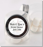 Passport - Personalized Bridal Shower Candy Jar