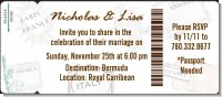 Passport - Bridal Shower Destination Boarding Pass Invitations