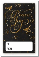 Peace and Joy - Custom Large Rectangle Christmas Sticker/Labels