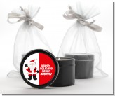 Peace Out Santa - Christmas Black Candle Tin Favors
