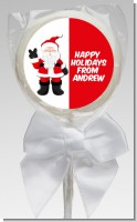 Peace Out Santa - Personalized Christmas Lollipop Favors