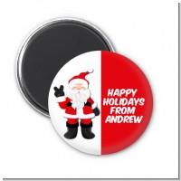 Peace Out Santa - Personalized Christmas Magnet Favors