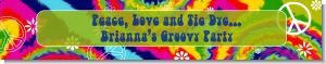 Peace Tie Dye - Personalized Birthday Party Banners