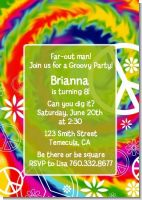 Peace Tie Dye - Birthday Party Invitations