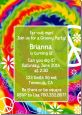 Peace Tie Dye - Birthday Party Invitations thumbnail