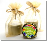 Peace Tie Dye - Birthday Party Gold Tin Candle Favors