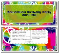 Peace Tie Dye - Personalized Birthday Party Candy Bar Wrappers