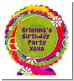 Peace Tie Dye - Personalized Birthday Party Centerpiece Stand thumbnail