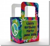 Peace Tie Dye - Personalized Birthday Party Favor Boxes