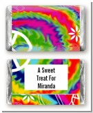 Peace Tie Dye - Personalized Birthday Party Mini Candy Bar Wrappers