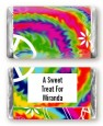 Peace Tie Dye - Personalized Birthday Party Mini Candy Bar Wrappers thumbnail