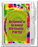 Peace Tie Dye - Birthday Party Personalized Notebook Favor