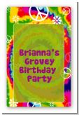 Peace Tie Dye - Custom Large Rectangle Birthday Party Sticker/Labels