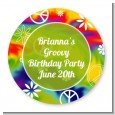 Peace Tie Dye - Round Personalized Birthday Party Sticker Labels thumbnail