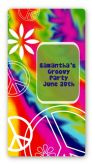 Peace Tie Dye - Custom Rectangle Birthday Party Sticker/Labels