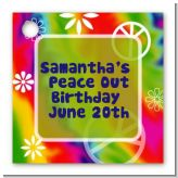 Peace Tie Dye - Personalized Birthday Party Card Stock Favor Tags