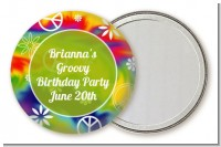 Peace Tie Dye - Personalized Birthday Party Pocket Mirror Favors