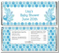 Peacock - Personalized Baby Shower Candy Bar Wrappers