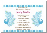Peacock - Baby Shower Petite Invitations