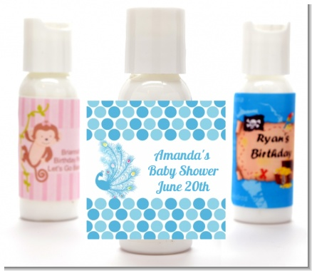 Peacock - Personalized Baby Shower Lotion Favors