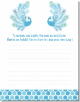 Peacock - Baby Shower Notes of Advice
