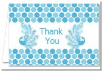 Peacock - Baby Shower Thank You Cards