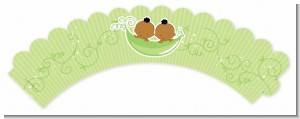 Twins Two Peas in a Pod African American - Baby Shower Cupcake Wrappers