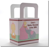 Our Little Peanut Girl - Personalized Baby Shower Favor Boxes