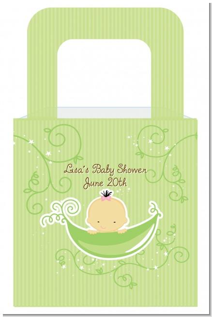 Sweet Pea Asian Girl - Personalized Baby Shower Favor Boxes