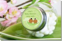 Twins Two Peas in a Pod African American Boy And Girl - Personalized Baby Shower Candy Jar