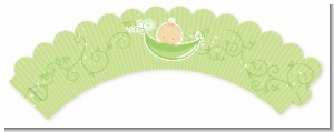 Sweet Pea Caucasian Girl - Baby Shower Cupcake Wrappers