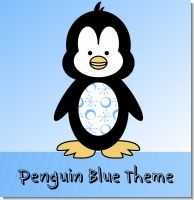 Penguin Blue Birthday Party Theme